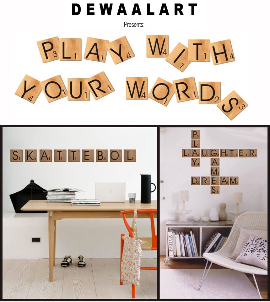Dewaal Art Scrabble Blocks